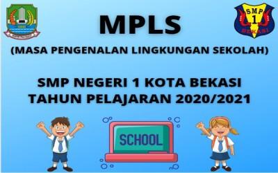 JADWAL KEGIATAN MASA PENGENALAN LINGKUNGAN SEKOLAH (MPLS) TAHUN PELAJARAN 2020/2021